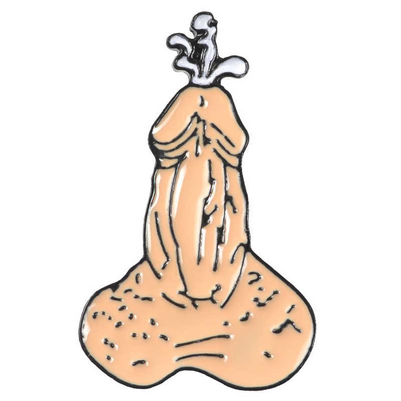 Nouveau Drole De Bande Dessinee Hommes Penis Dick Broche Pour Femmes Hommes Email Broches Sac A Dos Sacs Badge Epinglettes Cadeaux Accessoires Aliexpress