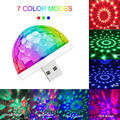 Миниатюрный USB цветной атмосферный свет, Автомобильный USB-светильник для вечерние, DJ светодиодный RGB внутренний светильник, для клуба, диско,...