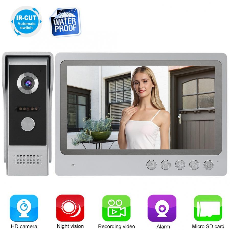Doorbell-Camera Intercom IR HD Color Video 9in 110-240V Night-View Ultra-Thin title=