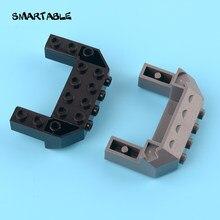 Smartable 4x6x1.667 Invertido Cunha com Pregos na Frente Lado Bloco de Construção de Peças de Brinquedos Para Crianças Compatível 87619 4 pçs/lote MOC