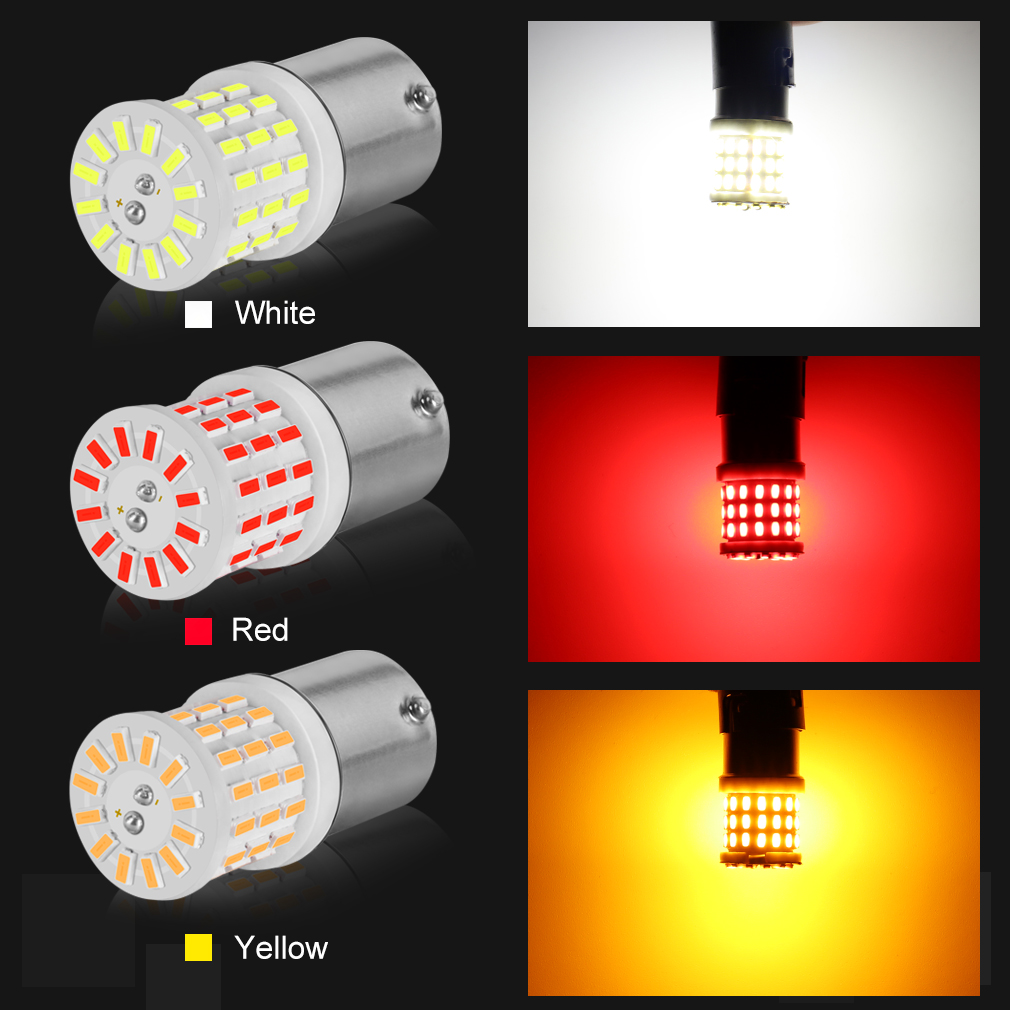 Image 2 - 2Pcs Ceramic LED 1157 BAY15D P21/5W LED Bulb 1156 BA15S P21W R5W R10W Car Light DRL Daytime Running Reverse Lamp 6000K White 12V-in Signal Lamp from Automobiles & Motorcycles
