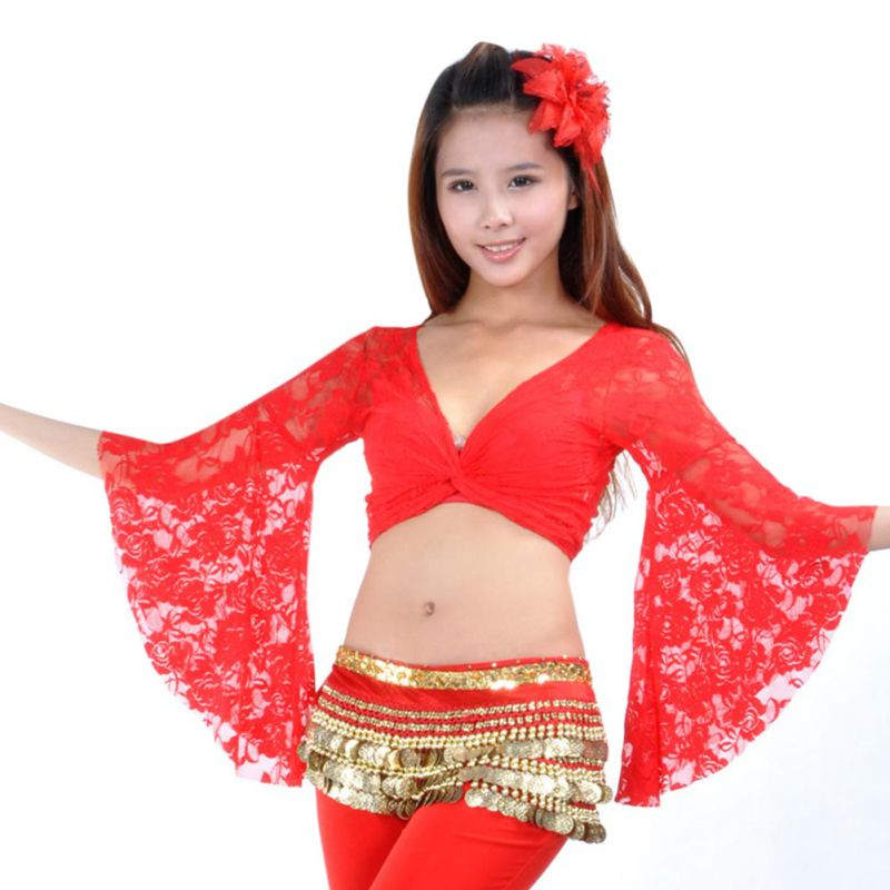 Women Belly Dance Costume Fashion Stretch Lace But
