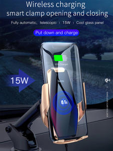 HOCO Car-Charger Air-Vent-Mount iPhone X Qi Wireless Automatic 15W Glass for Infrared-Clip