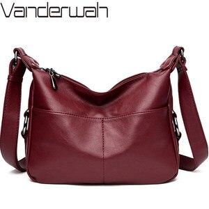 Image 1 - Lüks çanta kadın çanta tasarımcısı yumuşak deri çanta kadınlar için Crossbody askılı çanta bayanlar Vintage omuzdan askili çanta ünlü marka