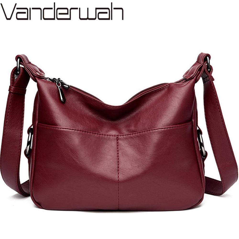 Luxury Handbags Women Bags Designer Soft Leather Bags For Women Crossbody Messenger Bag Ladies Vintage Shoulder Bag Famous Brand