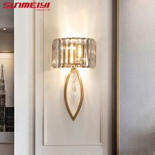 Luxury Led Wall Lamps For Living room Bathroom Corridor Stairs Loft Lamp Modern Bedroom Crystal Wall Light specchio da parete