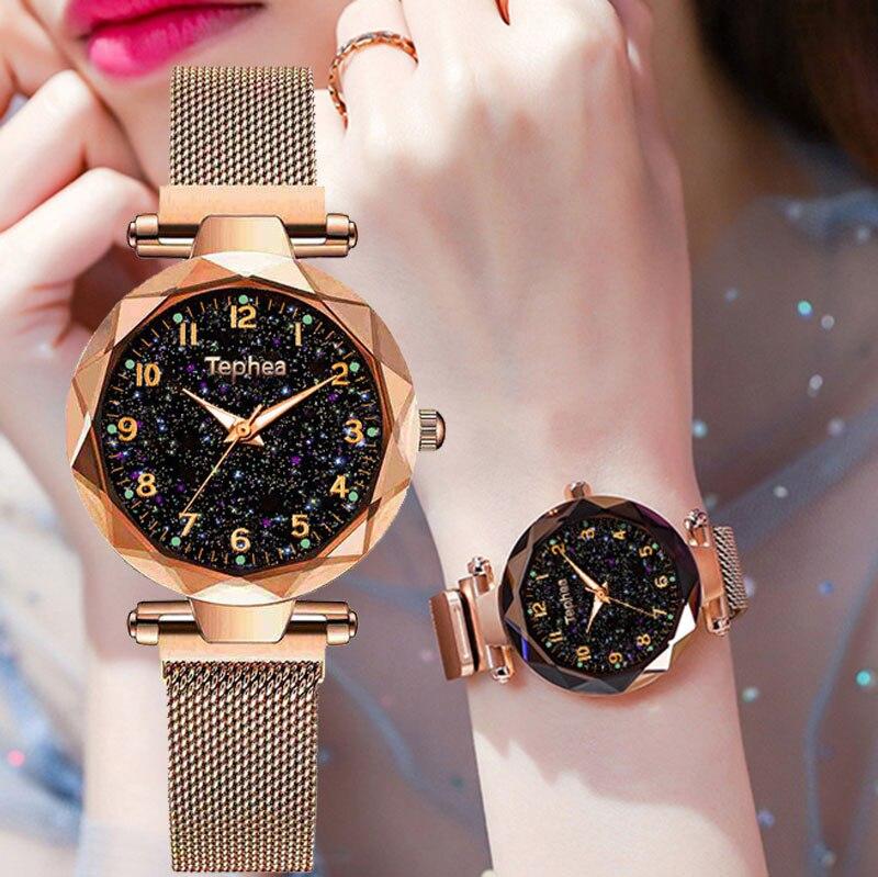 Magnetic Starry Sky Women Wrist Watch 2019 For Ladies Top Brand Luxury Watch Rose Gold Relogio Feminino Female Clock Reloj Mujer