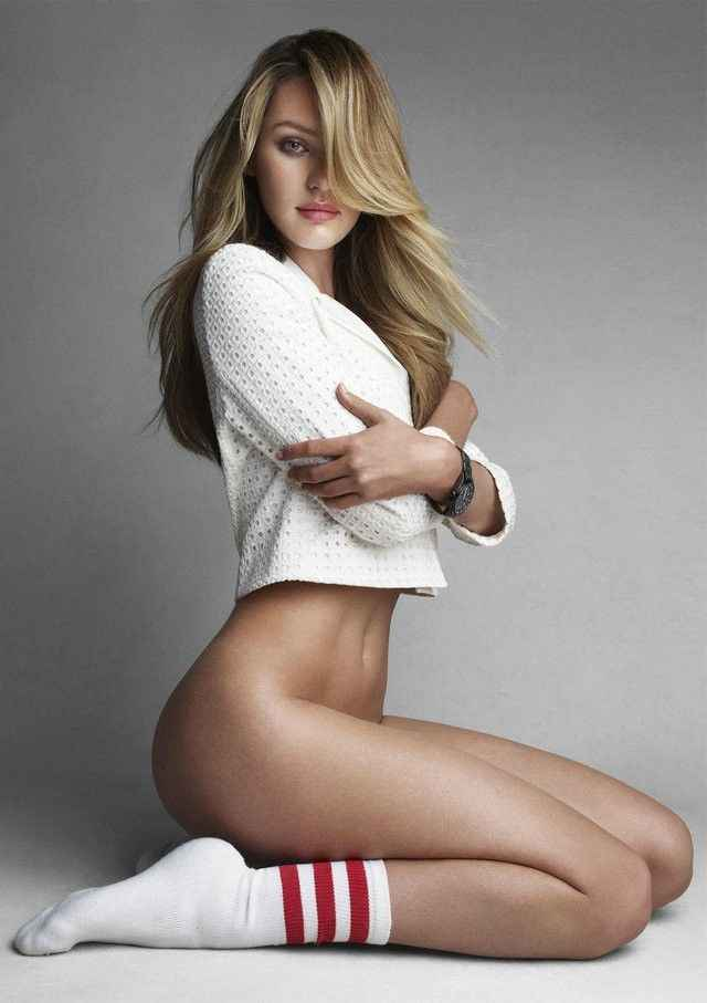 wqmdeshop Victoria Swimsuits Secret Special Top Model Candice Swanepoel Redline Art Creative Canvas Painting Poster Frameless Painting 50X70CM y:0274