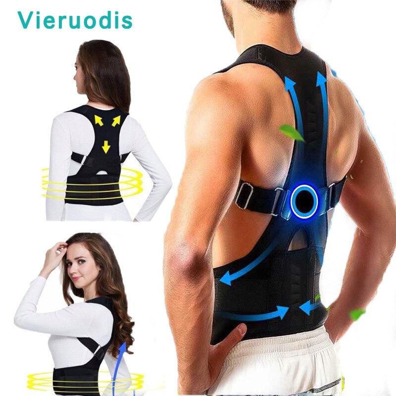 Posture Corrector Magnetic Therapy Posture Corrector Brace Adjustable Shoulder Back Brace Support Belt NO Slouching