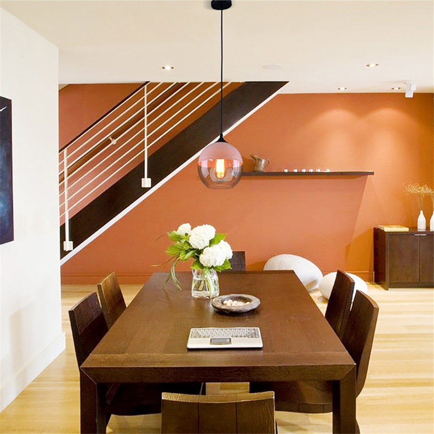 H6cfd5596a2f94a4b91449745dba86c25V - Modern Home Decor Pendant Lights Nordic Clear Glass Lampshade Pendant Light Indoor Lighting Living Room Hanglamp Light Fixture