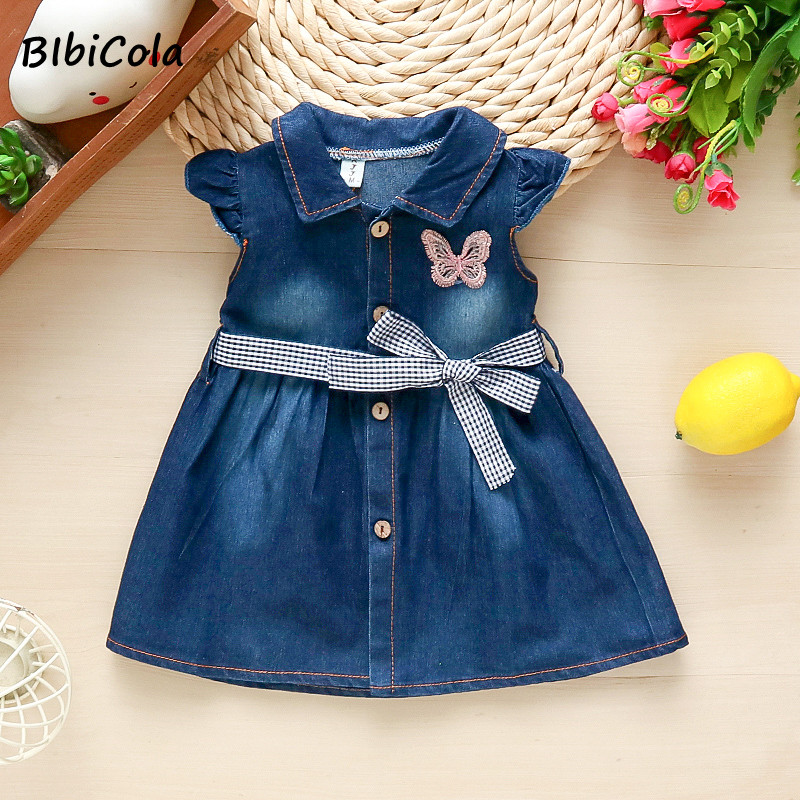Summer girls dress 2021 new kids clothes children casual denim dresses clothing for baby girls fashion cute dress