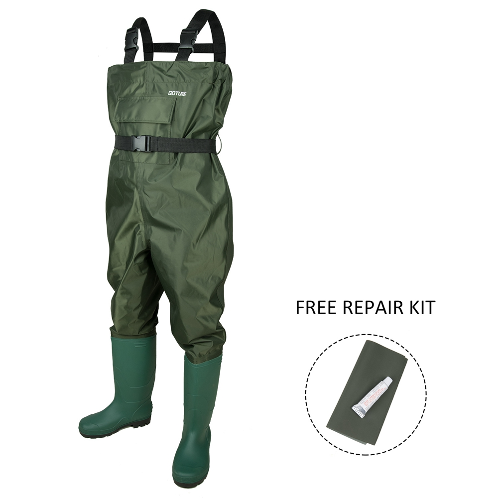 Goture Waterproof Kid Fishing Wader Fly Fishing Child Waders For 10/11 12/13 Year old Children