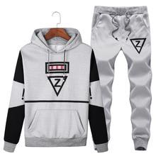 5XL Осенняя мужская спортивная одежда, спортивный костюм, флисовая толстовка с капюшоном+ штаны для бега, фитнеса, повседневный комплект, спортивный костюм