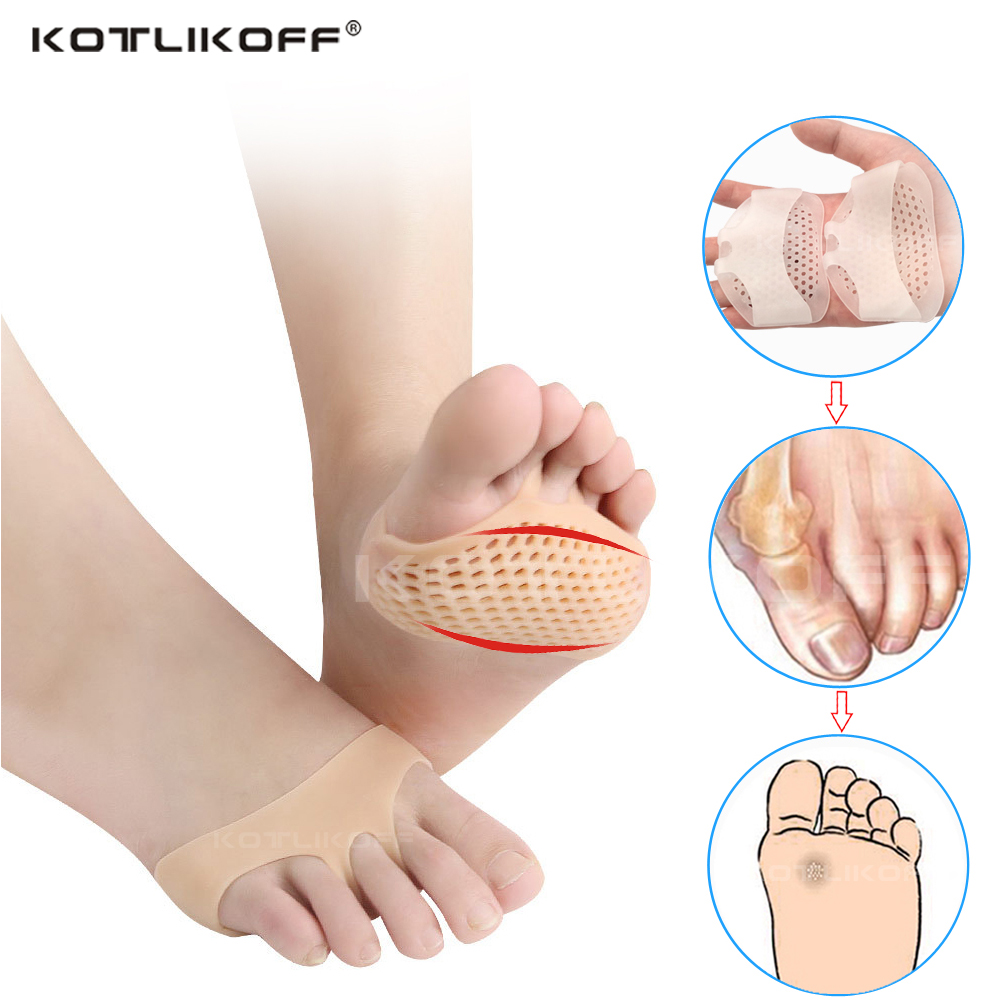 Insoles Forefoot Pads For Women High Heel Shoes Foot Blister Care Toes Insert Pad Silicone Gel Insole Pain Relief Pads Wholesale