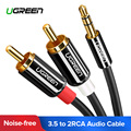 Ugreen Cable RCA estéreo HiFi 2RCA a 3,5mm Cable de Audio auxiliar RCA Jack 3,5 Y divisor para amplificadores de Audio de teatro en casa de Cable RCA