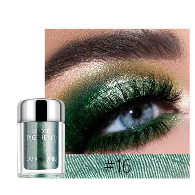 LANGMANNI Glitter Eye Shadow Metal Loose Powder Waterproof Flash Pigment Color Eye Shadow Powder Makeup Cosmetics TSLM1 2