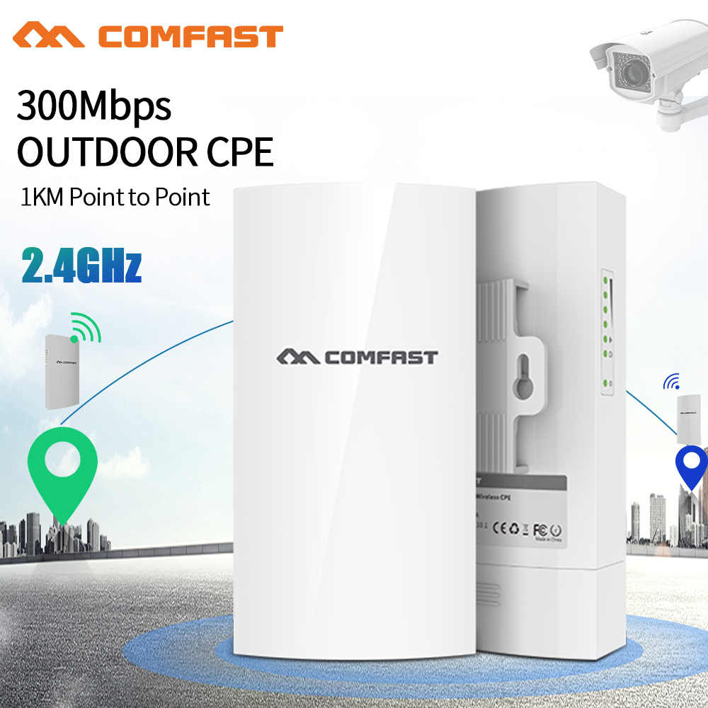 ยาวจุด 2.4G CPE ไร้สาย WIFI Repeater WIFI Extender 802.11b/g/n 300Mbps AP Bridge Client Router