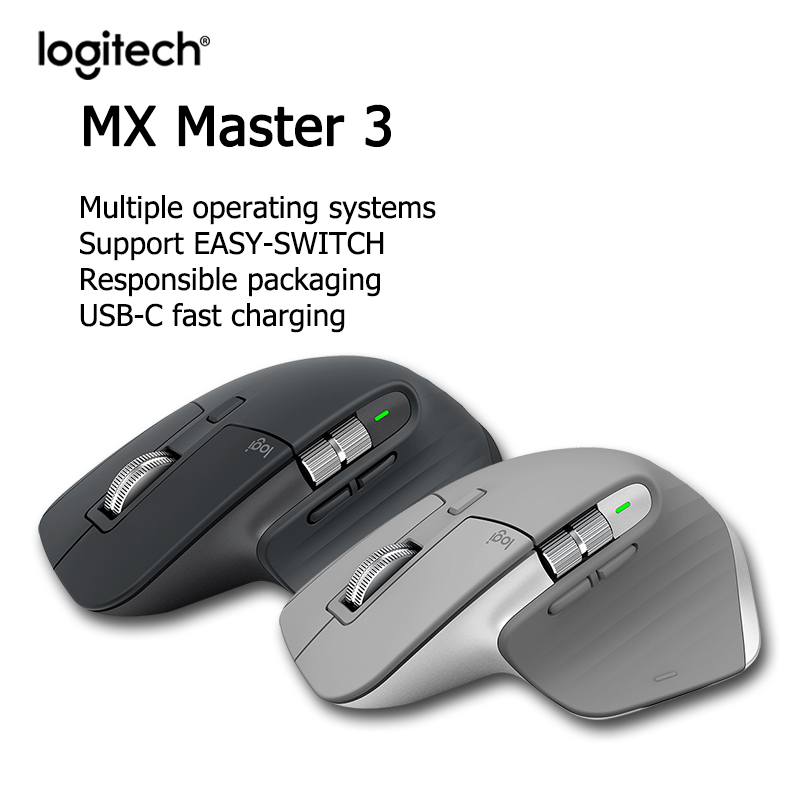 New Logitech MX Master 3 Wireless Mouse Wireless Bluetooth Gaming Mouse Office Mouse Anywhere 2S Suitable For Desktop Laptops
