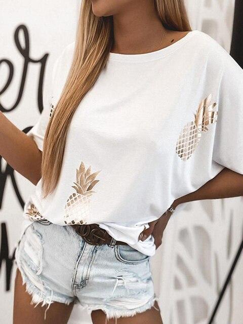 Фото женская свободная футболка с коротким рукавом круглым вырезом цена