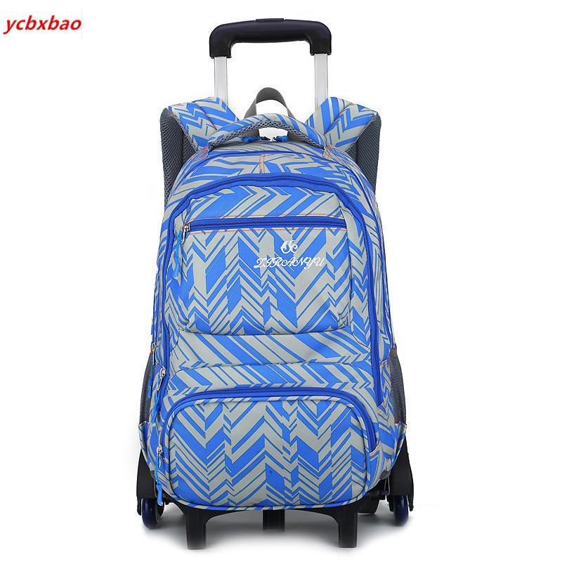 Sacs d'école amovibles pour enfants avec 2/6 roues pour garçons filles sac à dos Trolley sac à dos pour enfants sac à roulettes de voyage
