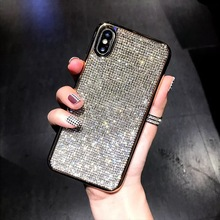 case for iPhone 11 XR 7 8 11 Pro Max X XS Max Plus 6 6s cover For Iphone Rhinestone Mobile Phone Shell Luxury XR All-Inclusive oneplant transparent electroplated phone case for iphone 11 pro max xr xs x xs max all inclusive phone cover for iphone 7 8 plus