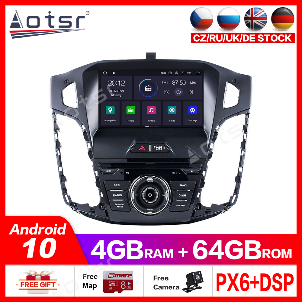 Android10.0 4G+64GB car DVD player Built-in DSP GPS multimedia Radio For <font><b>FORD</b></font> <font><b>FOCUS</b></font> 2012-2016 car GPS <font><b>Navigation</b></font> Audio Video dsp image