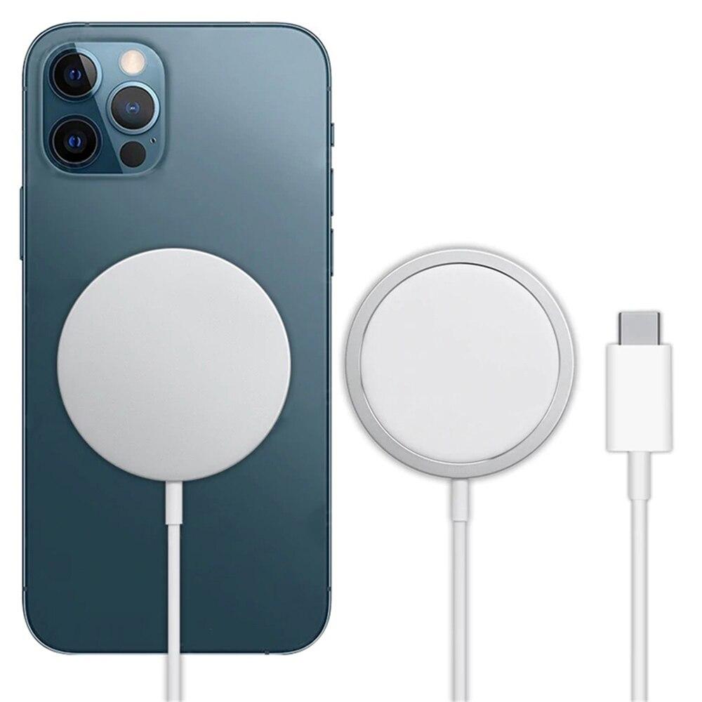 15 Вт Оригинальное магнитное Беспроводное зарядное устройство для iPhone 12 Pro Max 12 Pro Qi быстрое зарядное устройство для iPhone 12 Mini USB C PD адаптер ...