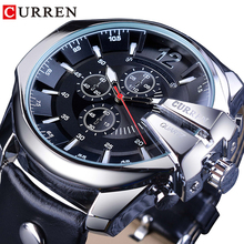 CURREN Army Military Pilot Design Wrist Watch Big Dial Fashion Waterproof Mens Quartz Top Brand Luxury Male Watch Leather Clock curren brand design new 2016 sport steel clock quality steel military man male luxury gift wrist quart business army watch 8056