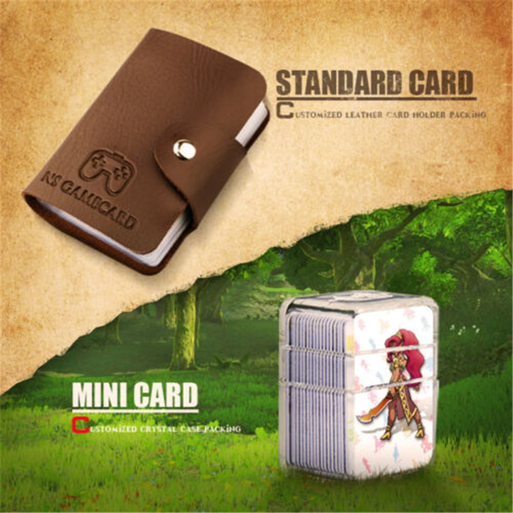 24Pcs/lot MINI Card Or Standard Card Full Set NFC PVC Tag Card Readable ZELDA BREATH OF THE WILD WOLF LINK For Amiibo Switch