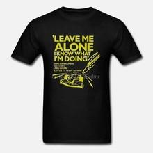 Camisa branca do t dos homens engraçado camiseta camiseta preta kimi raikkonen leave deixe-me sozinho eu sei o que estou fazendo t-shirt camiseta