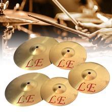 Медный сплав крушение тарелки барабан инструмент для игрока 8 10 12 13 дюймов Латунь Золотой 8in, 10in, 12in, 13in