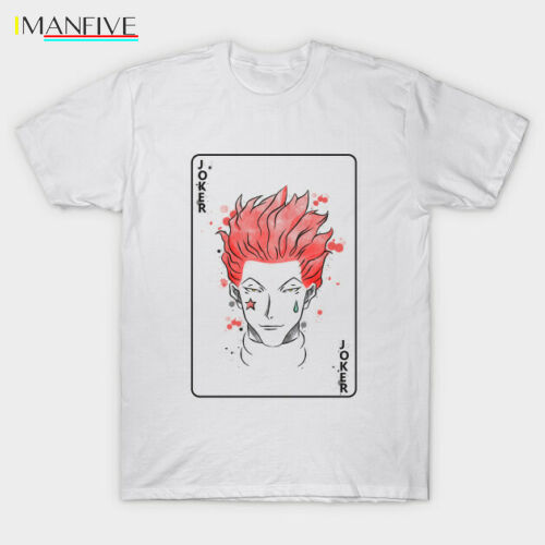 Hunter X Hunter The Clown Hisoka Joker Card White T Shirt for Manga Anime Fan Hot Selling 100 Cotton T Shirts Top Tee in T Shirts from Men 39 s Clothing