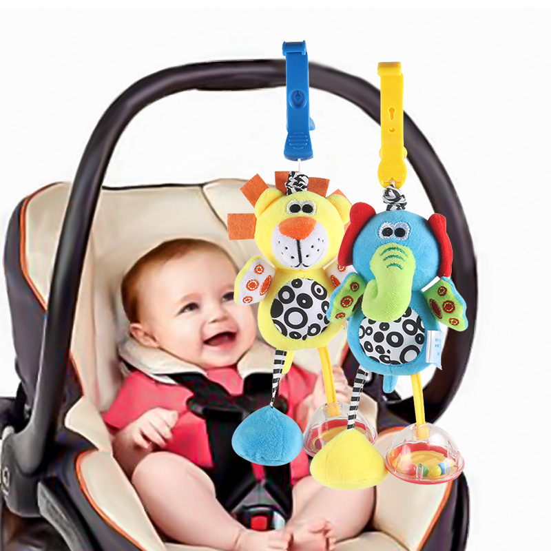 Newly Baby Kids Car Pram Handbell Stroller Hanging Hand Bell Pendant Soft Toy FI