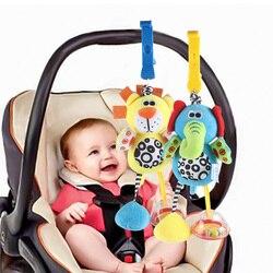 Лучшая продажа детских игрушек 0-12 месяцев погремушка кровать колокольчик Новорожденный ребенок Мобильная игрушка Лев слон Животное подве...