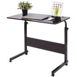 Zdejmowany stolik na laptopa łóżko biurko stojak na notebooka nocna rozkładana Sofa regulowane przenośne biurko komputerowe z kółkami łóżko biurko stół