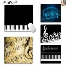 MaiYa Vintage genial notas de la música de Piano clave jugador jugar alfombrillas alfombrilla de caucho para ratón de la computadora de la PC alfombrilla para ratón de juegos