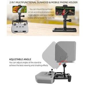 Image 4 - 2 In 1 Multifunctionalผู้ถือโทรศัพท์Sun HoodปรับมุมClampโทรศัพท์สำหรับDJI Mavic Air 2/ Mini/ Pro/Air/ Spark /Mini 2