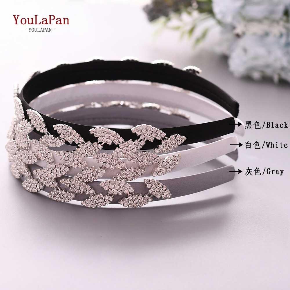 YouLaPan S198-FG 結婚式のヘアアクセサリーラインストーンカチューシャウェディングヘッドドレス結婚式のヘア装飾女性のための
