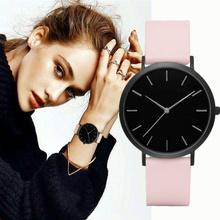 Relogio Feminino Women Watch Simple Casual Fashion Leather Q