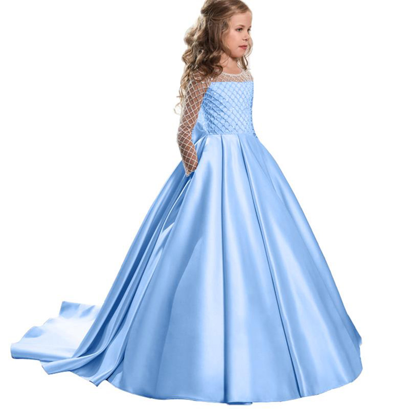 2019 Flower Girl Dresses First Communion Dresses Kids Children's Clothing Child Fluffy Pageant Ball Gown Costume Vestidos