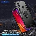 Защитный ударопрочный чехол для Xiaomi Pocophone F1 F2 X2 X3 Nfc M2 Pro MI9 MI8 SE MI Play 8 9 5X 6X A1 A2 A3 Lite PC + чехол из ТПУ