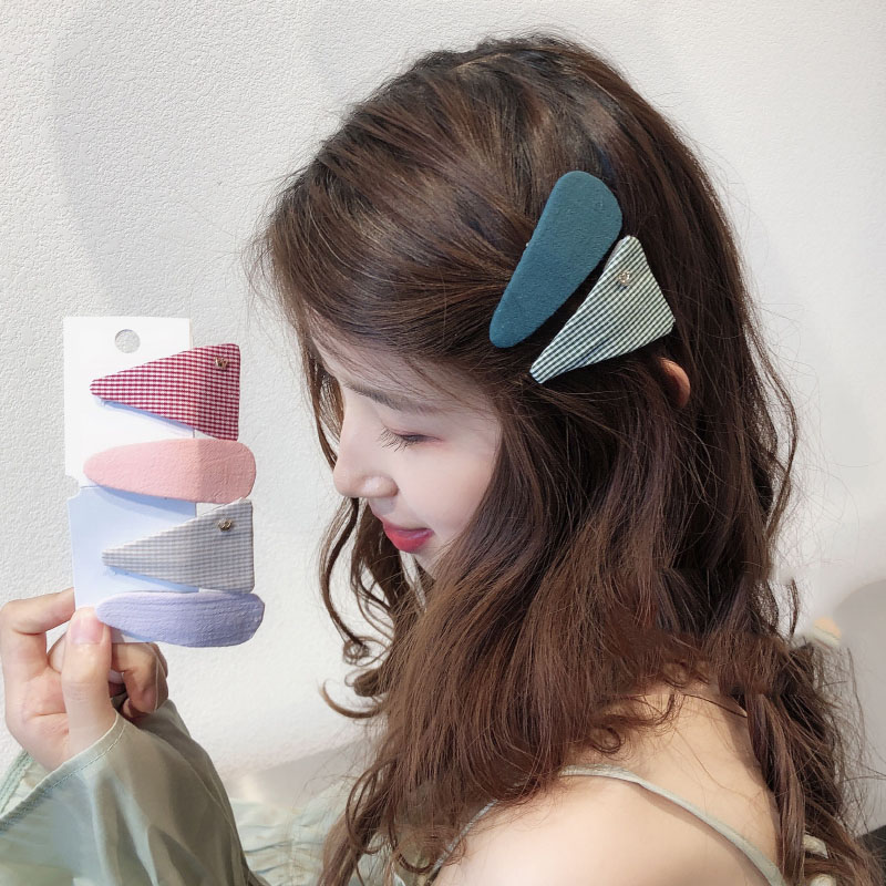 Tiara Parent child Hair Pins New Girls Plaid Hairpin Jwelry for Women Accessories Korean Geometry Hairpin Hair Jewelry Headpiece in Hair Jewelry from Jewelry Accessories