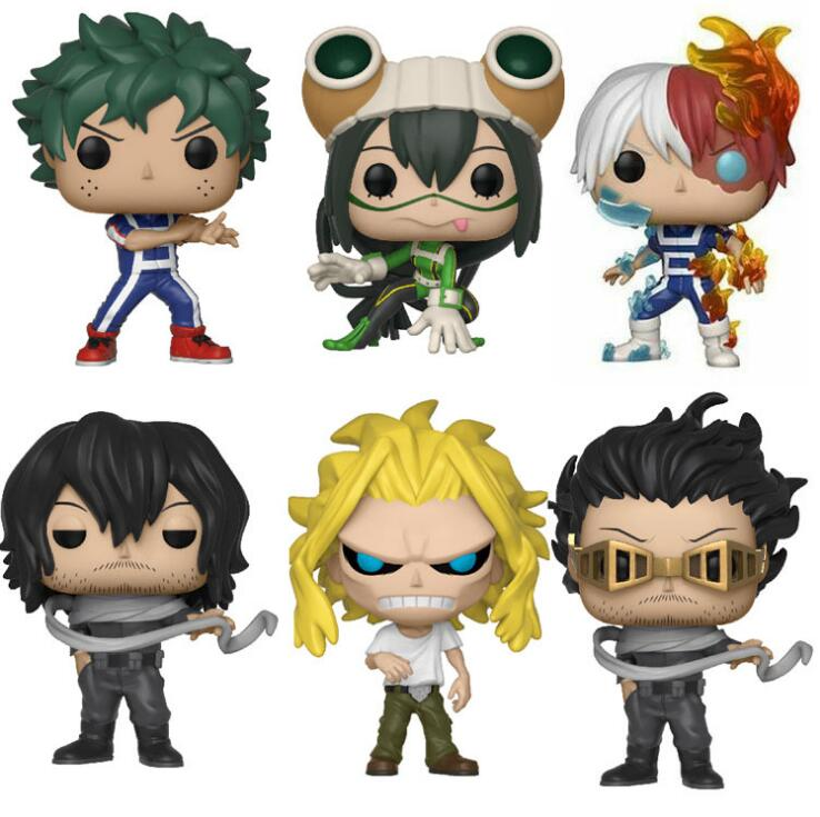 Anime My Hero Academia Character Deku & Katsuki & All Might & TODOROKI Tsuyu  Cute Vinyl Figure Collection Model Toys