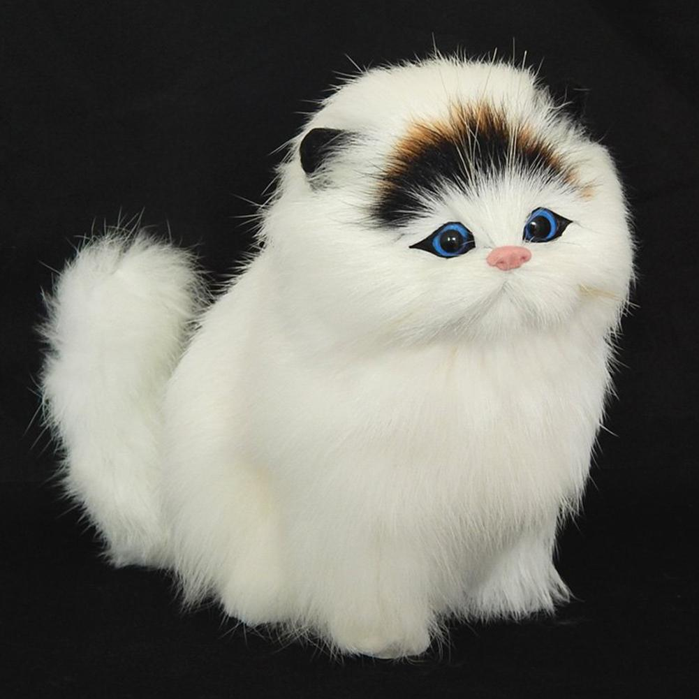 Plush Simulation Cat Electronic Pet Doll Imitation Animal Toy With Sound Function Children's Cute Pet Toy Model Christmas Gift