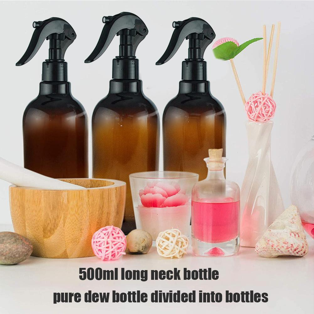500ml Large Capacity Empty Amber Glass Bottles With Mist Black Stream Products Cap Oil For Essential Cleaning Trigger Spray I8N9
