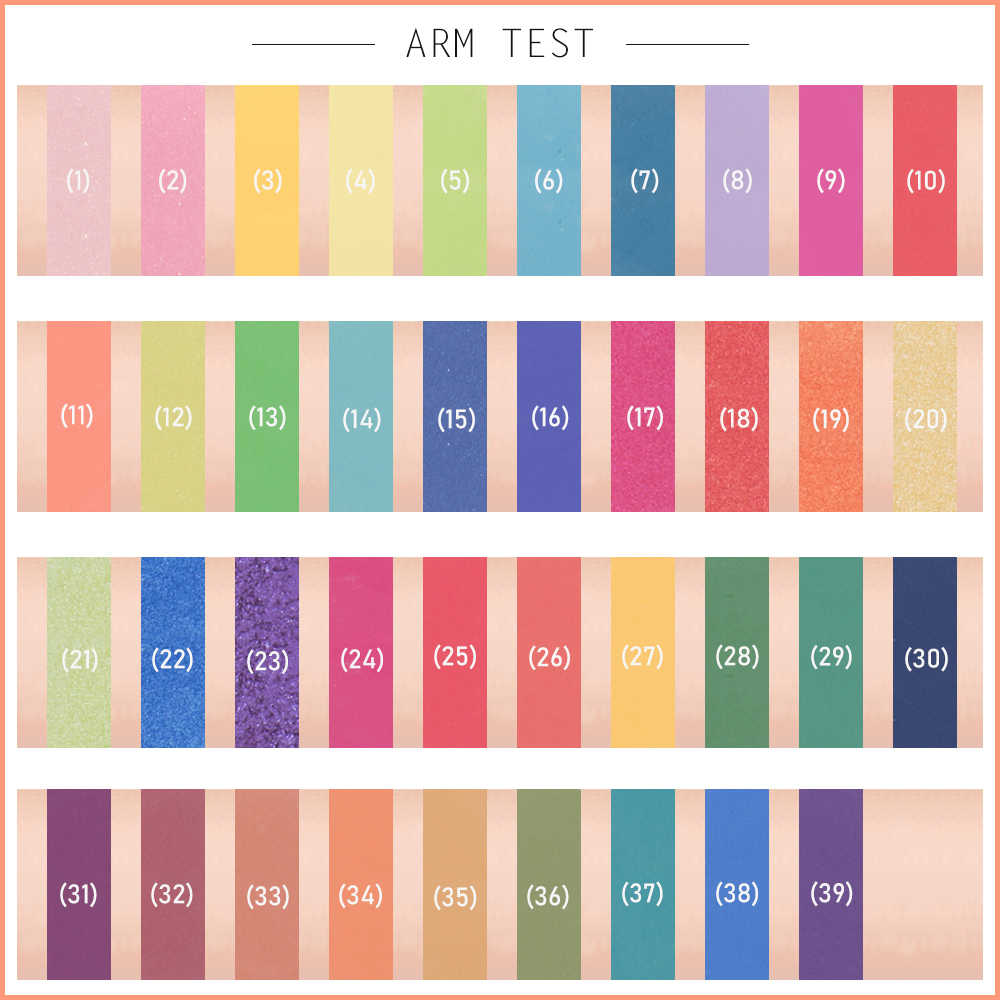 Schönheit Glasierte Lidschatten-palette 39 Farbe Wasserdichte Matte Schimmer Lidschatten Palette Über die Regenbogen Hohe Pigment Make-Up-Palette