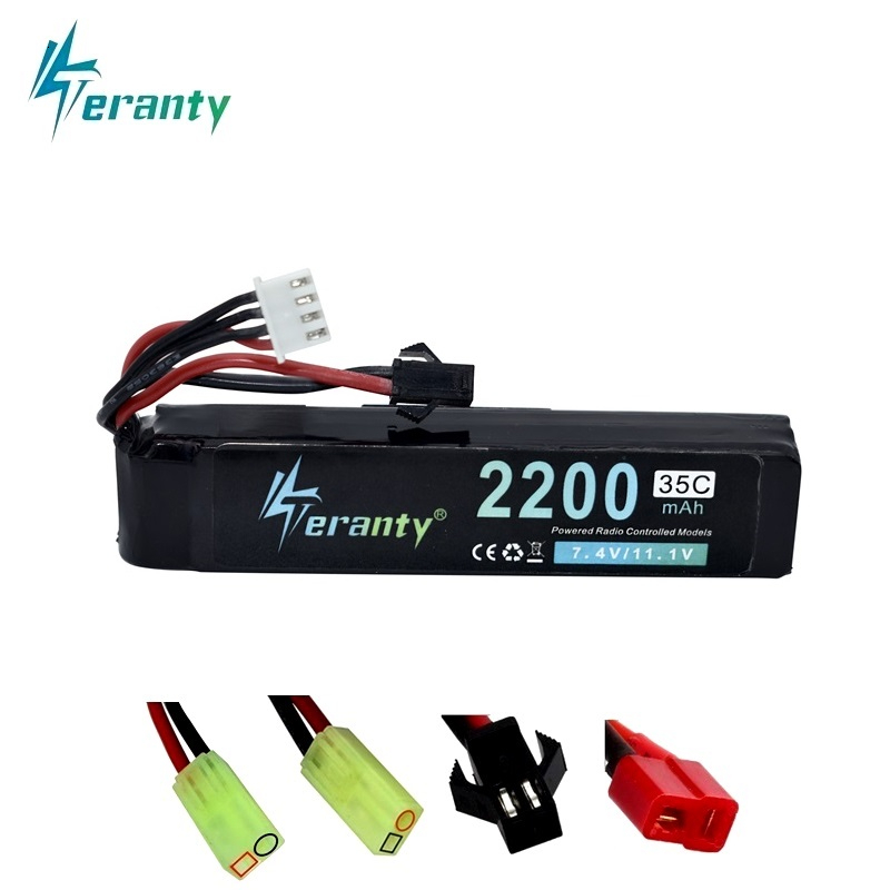 #102mm 11.1v <font><b>2200mAh</b></font> <font><b>Lipo</b></font> Battery for Water Gun <font><b>3S</b></font> 11.1V battery for Mini Airsoft BB Air Pistol Electric Toys Guns Parts 1Pcs image