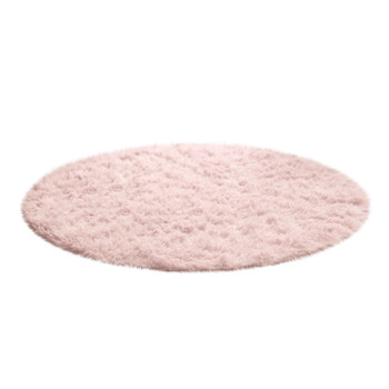 Computer Chair Upholstery Area Rug mats 2020 Fluffy Round Alfombra for Living Room Faux Fur Carpet Kids Bedroom Plush Shaggy image