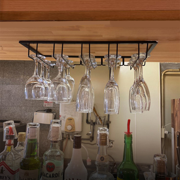 Overhead Hanging Wine Glass Holder 1