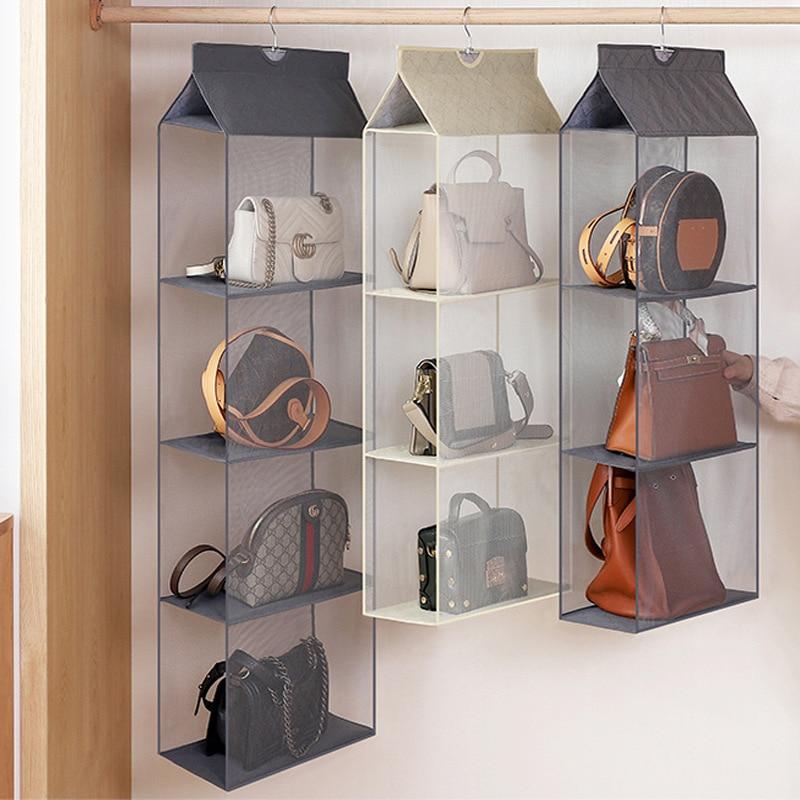 Luluhut Handbag Hanging Organizer Hanging Wardrobe Organizer Three-dimensional Storage Hanging Bag Handbag Organizer For Closet